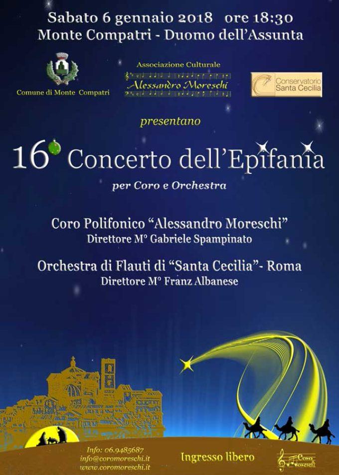 16° Concerto dell'Epifania per Coro e Orchestra a Monte Compatri